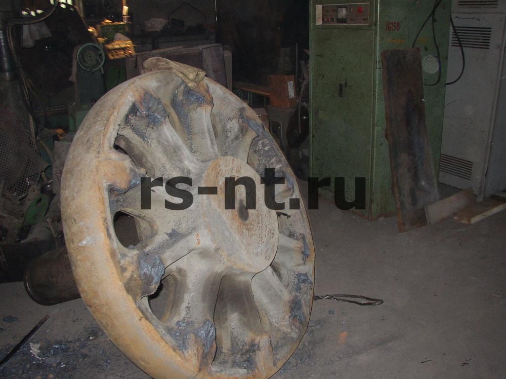 Ремонт приводного колеса ЭКГ