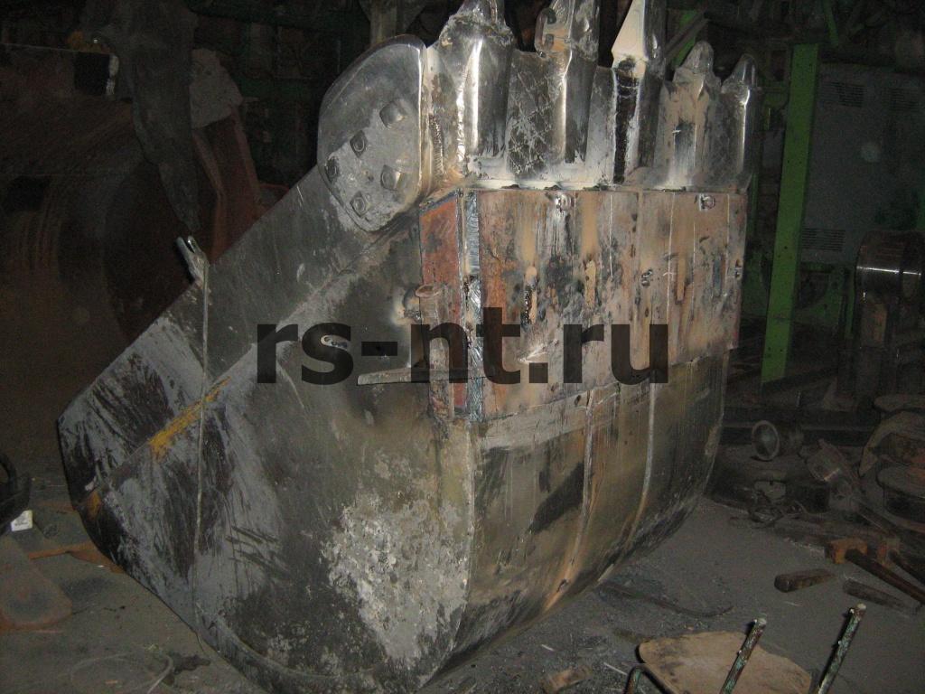 Ремонт ковша гидравлического экскаватора