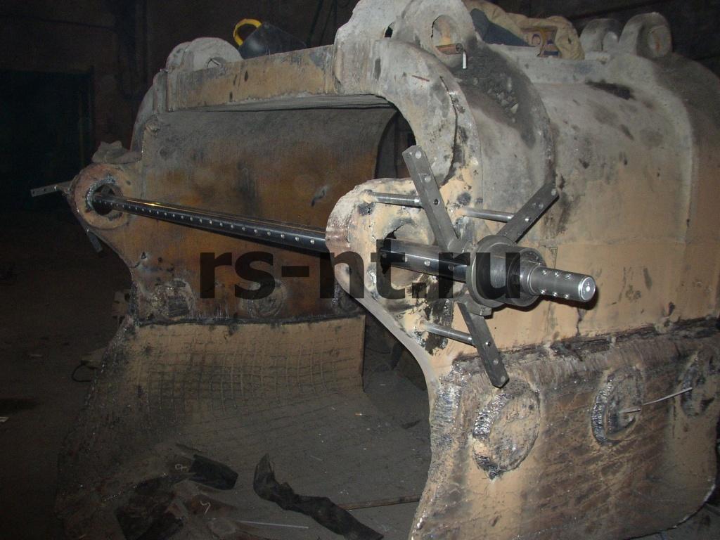 Соосное восстановление отверстий ковшей и рукоятей