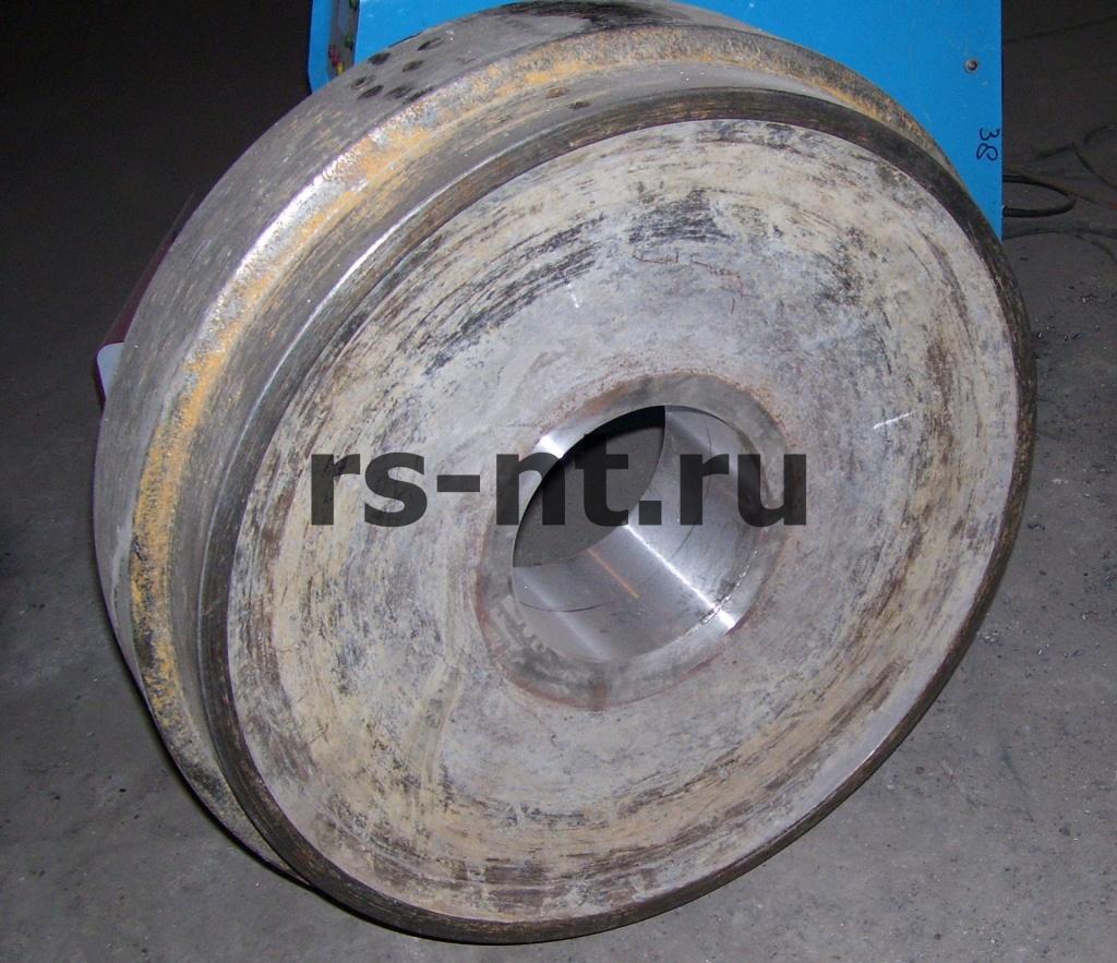 Восстановление посадочного отверстия колеса станка DM-45
